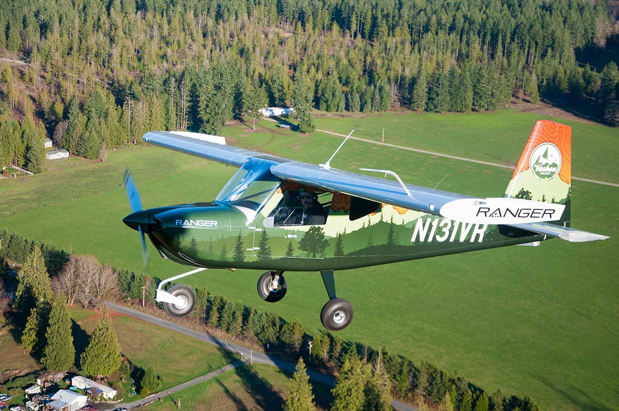 The Vashon Ranger R7 flying near Seattle, WA