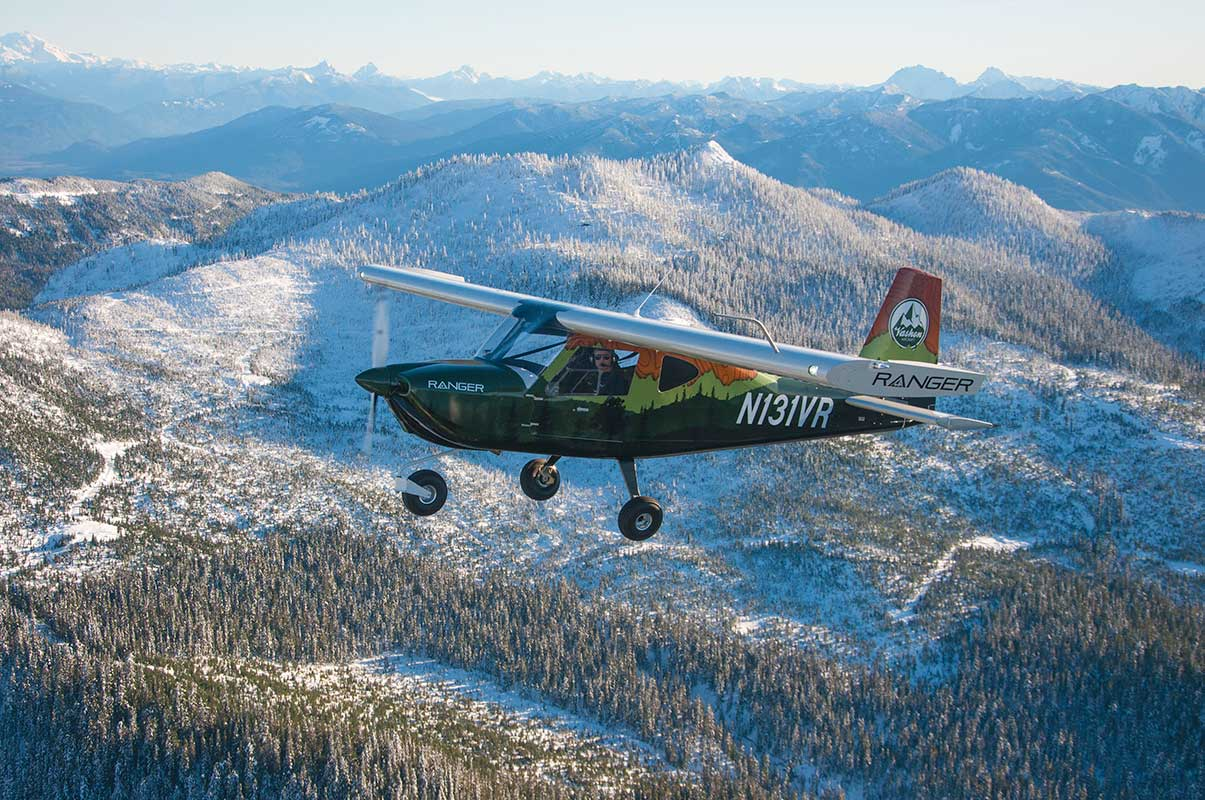 The Vashon Ranger R7 flying around near Mt Baker, WA